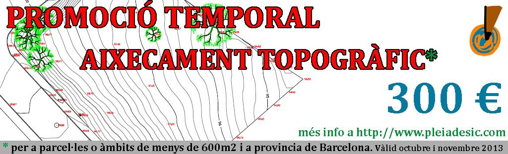 Promoció temporal Aixecament Topogràfic