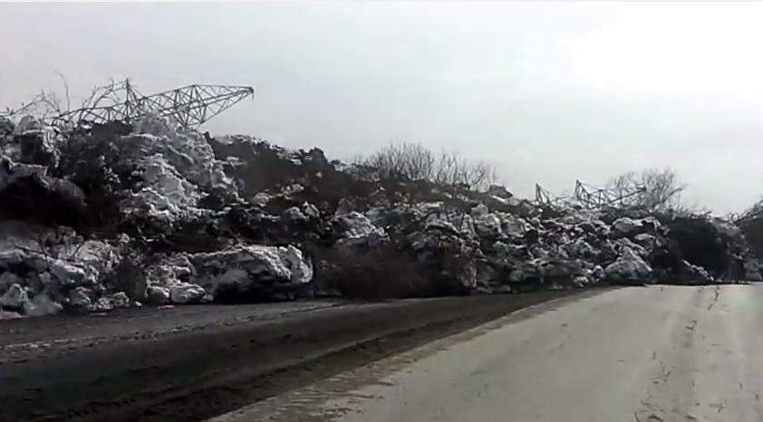 Deslizamiento lento captado en vídeo en Rusia