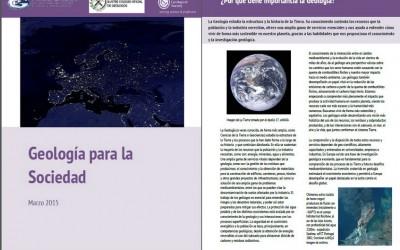 """Informe """"Geología para la Sociedad"""""""