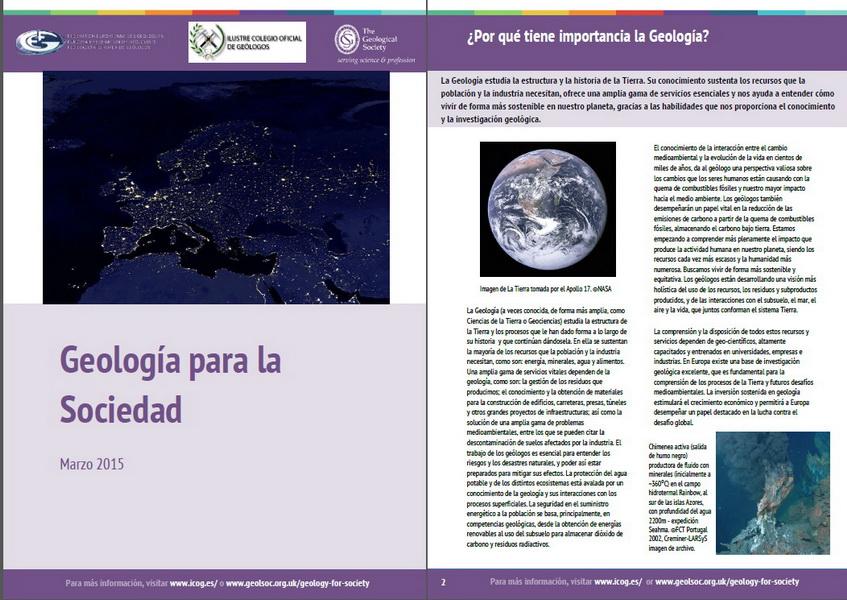 Informe «Geología para la Sociedad»